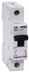 Автоматические выключатели однополюсные 6 кА Legrand TX3 тип В