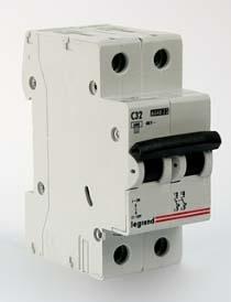 Автоматические выключатели двухполюсные 6 кА Legrand TX3 тип С