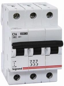 Фото Автоматические выключатели трехполюсные 6 кА Legrand TX3 тип С