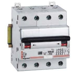 Фото Дифференциальные автоматические выключатели четырехполюсные (3+N) Legrand DX3 тип С