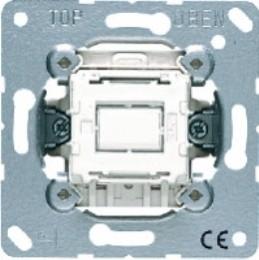 Фото Выключатель кнопка одноклавишный проходной (универсальный) 10 А, 250 В~