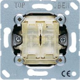 Фото Выключатель кнопка двухклавишный проходной (универсальный) 10 А, 250 В~