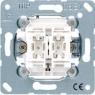 Выключатель двухклавишный однотактный (кнопка) с подсветкой (красная лампочка) 10 А, 250 В~