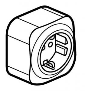 Розетка с заземляющим контактом 16 А, 250 В~