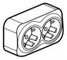 Розеточный блок двойной с заземляющим контактом 16 А, 250 В~