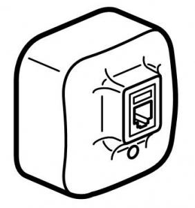 Розетка информационная один выход RJ45 UTP (8 контактов), категория 5е