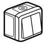Выключатель двухклавишный влагозащищенный (IP44) 10 А, 250 В~