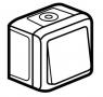 Выключатель одноклавишный проходной (универсальный), влагозащищенный (IP44) 10 А, 250 В~