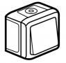 Выключатель одноклавишный однотактный (кнопка) влагозащищенный (IP44) 6 А, 250 В~