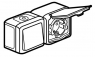 Блок двойной в сборе влагозащищенный (IP44) выключатель одноклавишный 10 А, 250 В~ + розетка с заземляющим контактом, крышкой и защитными шторками для защиты детей 16 А, 250 В~