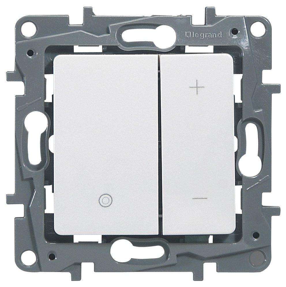 Светорегулятор кнопочный 20-400Вт белый Etika