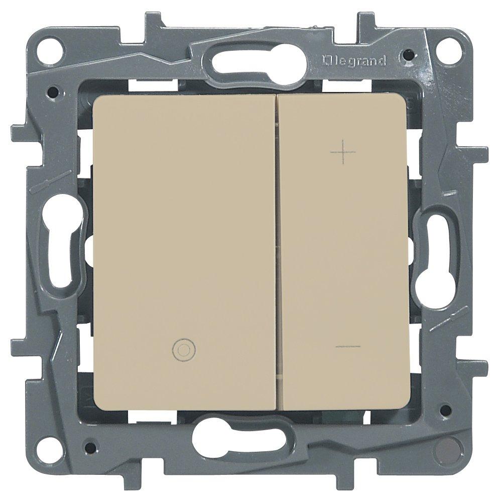 Светорегулятор кнопочный 20-400Вт слоновая кость Etika