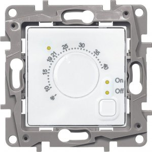 Терморегулятор для систем Теплый пол белый Etika
