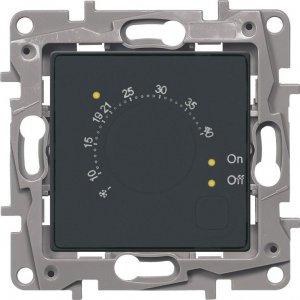 Терморегулятор для систем Теплый пол антрацит Etika