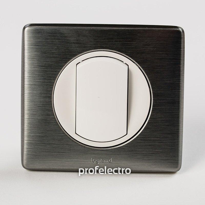 Фото Рамки металлизированные цвет вольфрам 1—4 поста Celiane Legrand