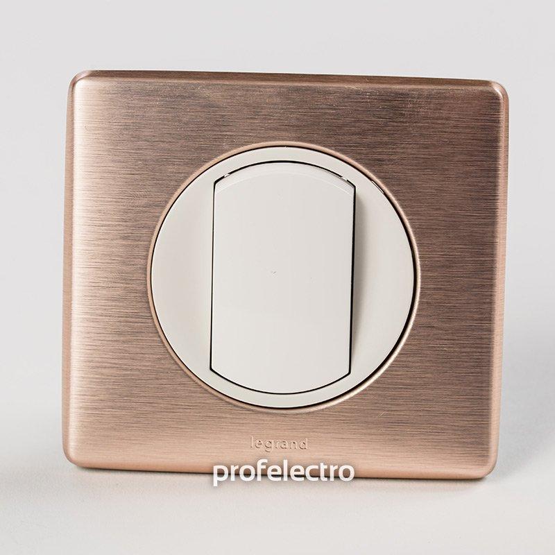 Фото Рамки металлизированные цвет медь 1—4 поста Celiane Legrand
