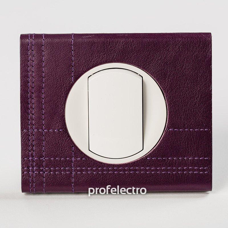 Фото Рамки обтянутые натуральной кожей цвет пурпур 1—3 поста Celiane Legrand