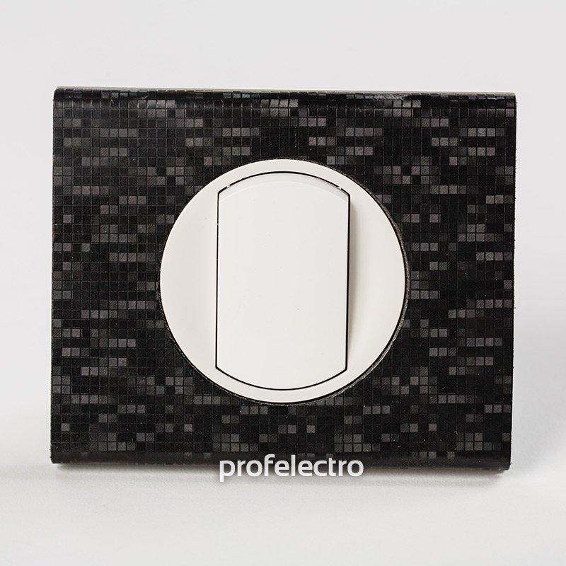 Фото Рамки обтянутые натуральной кожей цвет блек пиксель 1—3 поста Celiane Legrand