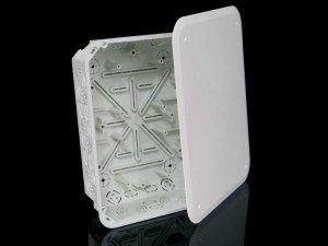 Коробка распределительная с крышкой прямоугольная (для твердых стен)