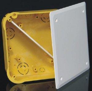 Фото Коробка распределительная с крышкой квадратная (для пустотелых стен)
