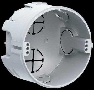 Коробка установочная соединительная круглая (для твердых стен)