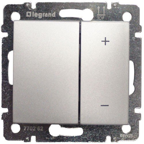 Светорегулятор кнопочный 40-400Вт алюминий Valena