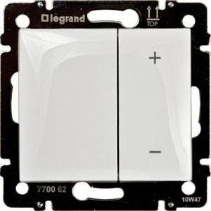 Светорегулятор кнопочный 40-600Вт белый Valena