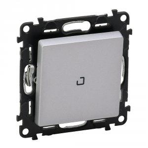 Выключатель одноклавишный однотактный (кнопка) с подсветкой 6 А, 250 В~