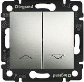 Фото Механизм управления приводами с блокировкой двухклавишный 10 А, 250 В~ Valena Legrand