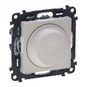 Светорегулятор поворотный 5-300Вт, LED 5-75Вт