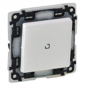 Фото Выключатель одноклавишный проходной (универсальный) с подсветкой, влагозащищенный (IP44) 10 А, 250 В~