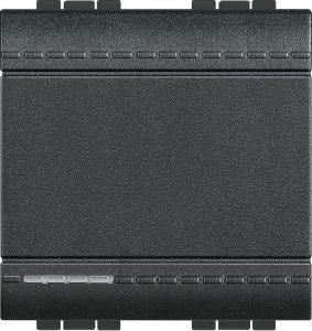 Выключатель одноклавишный проходной (универсальный) 2 модуля, 16 А, 250 В~, автоматические клеммы