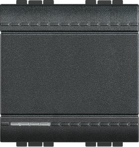 Фото Выключатель одноклавишный промежуточный (крестовой) 2 модуля, 16 А, 250 В~, винтовые клеммы