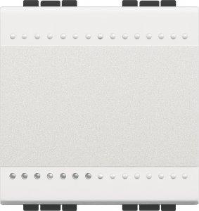 Выключатель одноклавишный однотактный (кнопка) 1NO, 2 модуля, 10 А, 250 В~, винтовые клеммы