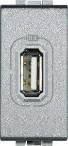 Фото Зарядное устройство USB 1,1A 250 В~, 1 модуль