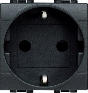 Фото Розетка с заземляющим контактом и защитными шторками для защиты детей 16 А, 250 В~ немецкий стандарт 2 модуля, винтовые клеммы