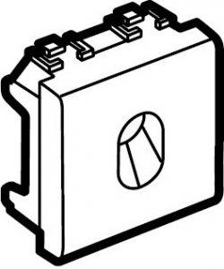 Заглушка с отверстием для вывода кабеля 2 модуля