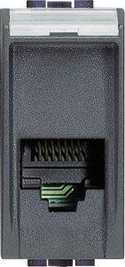 Розетка телефонная один выход RJ11 (4 контакта) 1 модуль