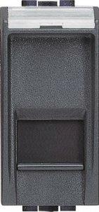 Розетка информационная один выход RJ45 FTP (9 контактов), категория 5е, 1 модуль