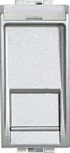 Розетка информационная один выход RJ45 UTP (8 контактов), категория 6, 1 модуль