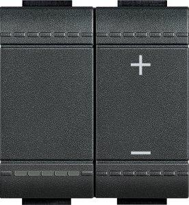 Светорегулятор кнопочный универсальный 3-400Вт, LED 3-150Вт, 2 модуля