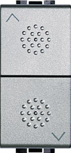 Механизм управления приводами с блокировкой двухклавишный однотактный (кнопка) 10 А, 250 В~, 1 модуль