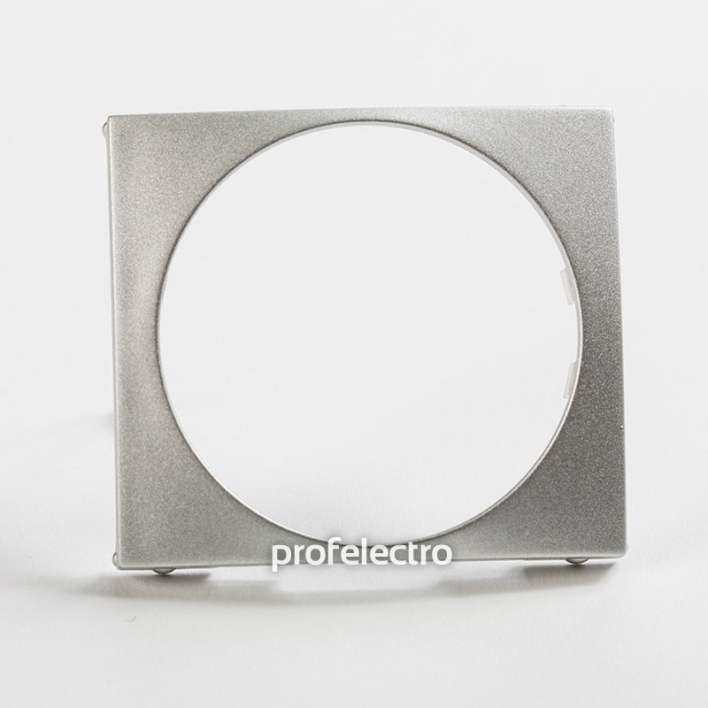 Универсальная лицевая панель 46,5 мм алюминий Valena
