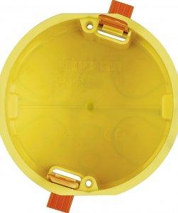 Коробка установочная соединительная круглая для пустотелых стен ø68х51 мм. 1 пост (2 модуля) немецкий, итальянский стандарт Living Light Bticino