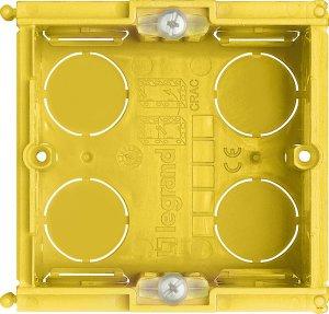 Коробка установочная соединительная квадратная для твердых стен 70х70х50 мм. 1 пост (2 модуля) немецкий, итальянский стандарт Living Light Bticino
