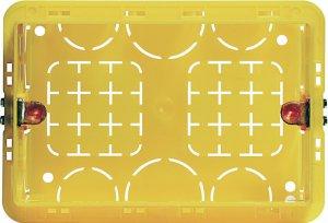 Коробочный блок установочный 3 модуля итальянский стандарт  для твердых стен 106х71х52 мм.