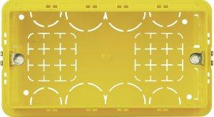 Фото Коробочный блок установочный 4 модуля итальянский стандарт  для твердых стен 133х74х53,5 мм.