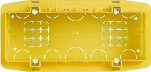Коробочный блок установочный 7 модулей итальянский стандарт  для твердых стен 183,5х90х53,5 мм.