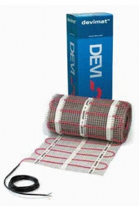 Нагревательные маты повышенной мощности двухжильные экранированные с тефлоновой изоляцией DEVImat 200T (DTIF-200)