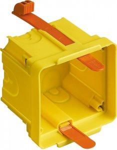 Фото Коробка установочная квадратная 2 модуля итальянский стандарт для пустотелых стен 70,5x70,5x58 мм.